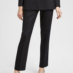 THEORY BLACK Tux Wool Pants